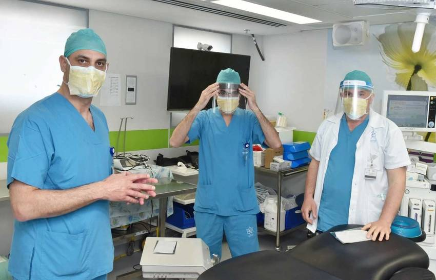 Surgeons at the Galilee Medical Center